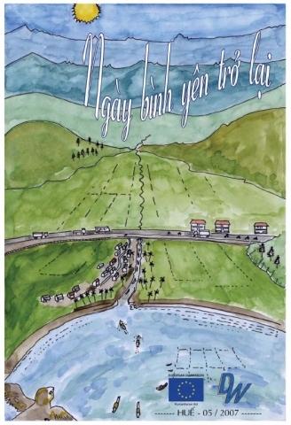 DWF cartoon on typhoon risk reduction in Vietnam