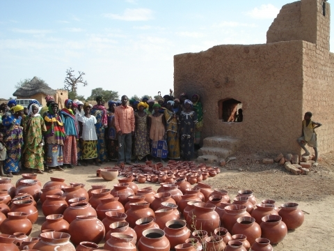DWF Women potters with new kiln save energy and improve revenues