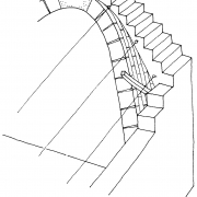 Guiding strings used on vaults during building